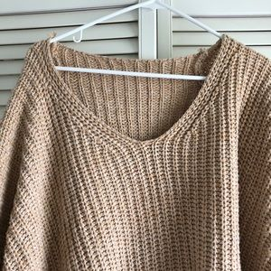 Sweaters - Oversized tan sweater